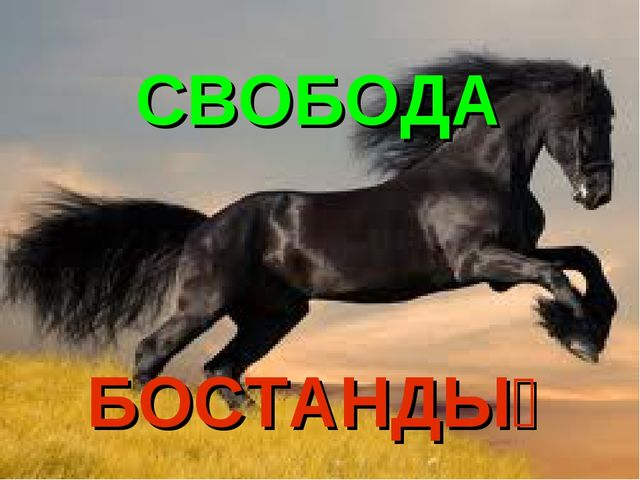 СВОБОДА БОСТАНДЫҚ