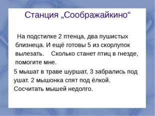 """Станция """"Соображайкино"""" На подстилке 2 птенца, два пушистых близнеца. И ещё г"""