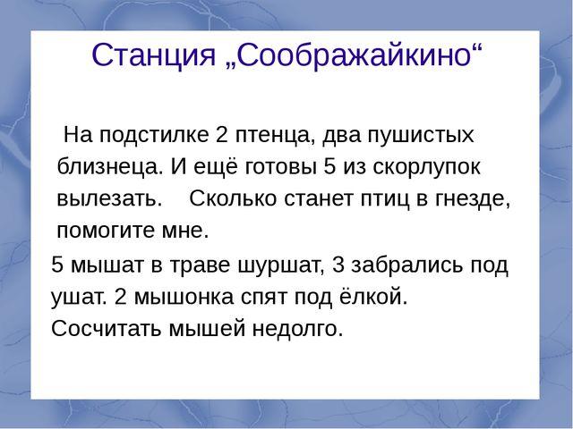"""Станция """"Соображайкино"""" На подстилке 2 птенца, два пушистых близнеца. И ещё г..."""