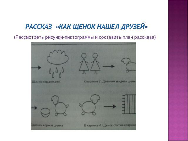 (Рассмотреть рисунки-пиктограммы и составить план рассказа)