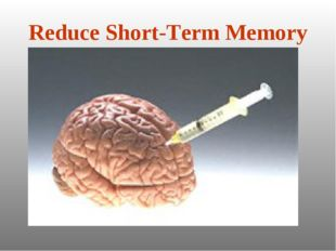 Reduce Short-Term Memory