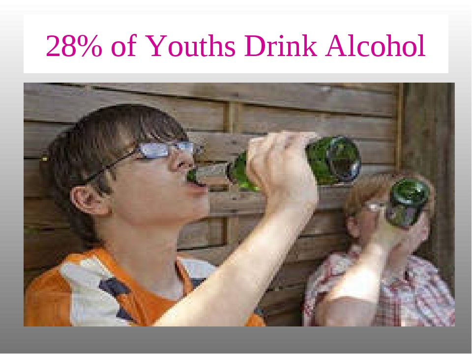 28% of Youths Drink Alcohol