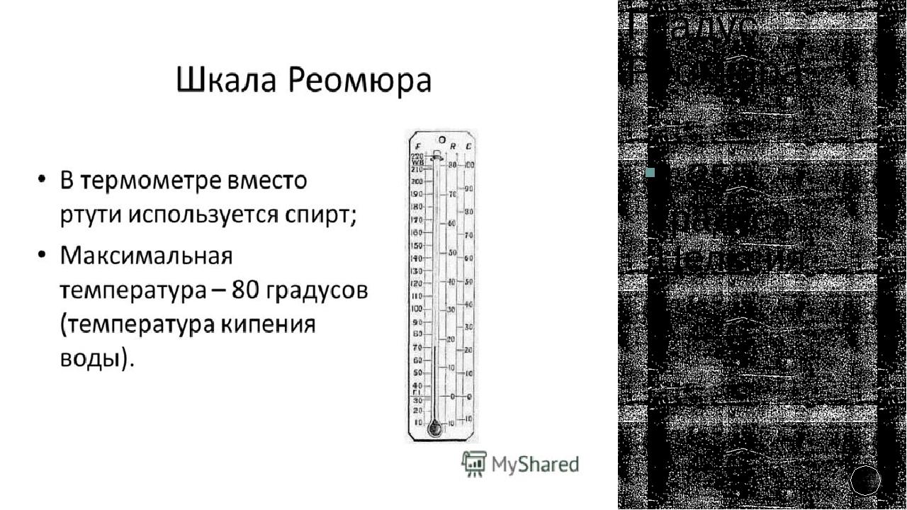 Градус Реомюра 1,25° градуса Цельсия