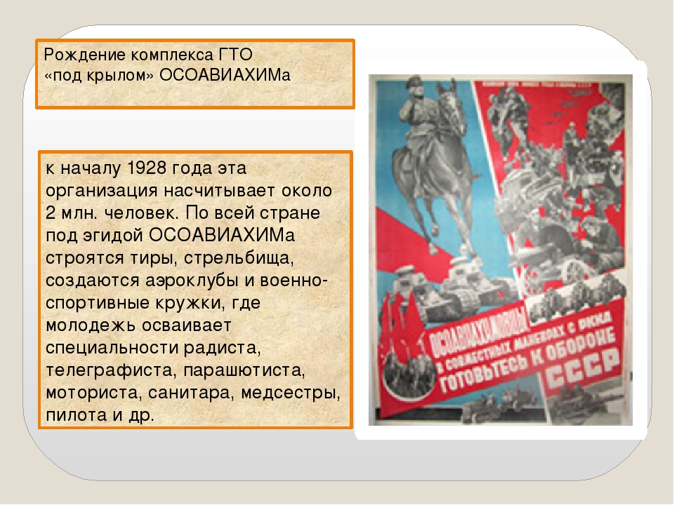 Рождение комплекса ГТО «под крылом» ОСОАВИАХИМа к началу 1928 года эта органи...