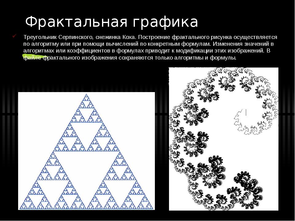 Фрактальная графика Треугольник Серпинского, снежинка Коха. Построение фракта...