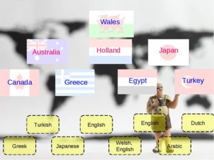 Greek Japanese English Welsh, English English Arabic Dutch Turkish Egypt Gree