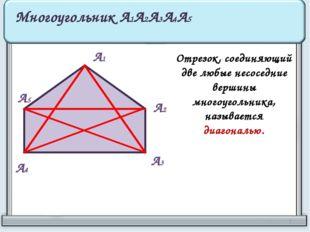 А1 А2 А3 А4 А5 Многоугольник А1А2А3А4А5 Отрезок, соединяющий две любые несосе