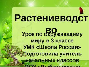 Растениеводство Урок по окружающему миру в 3 классе УМК «Школа России» Подгот