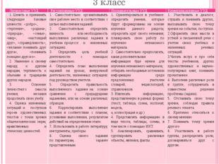 3 класс Личностные УУД Регулятивные УУД Познавательные УУД Коммуникативные УУ