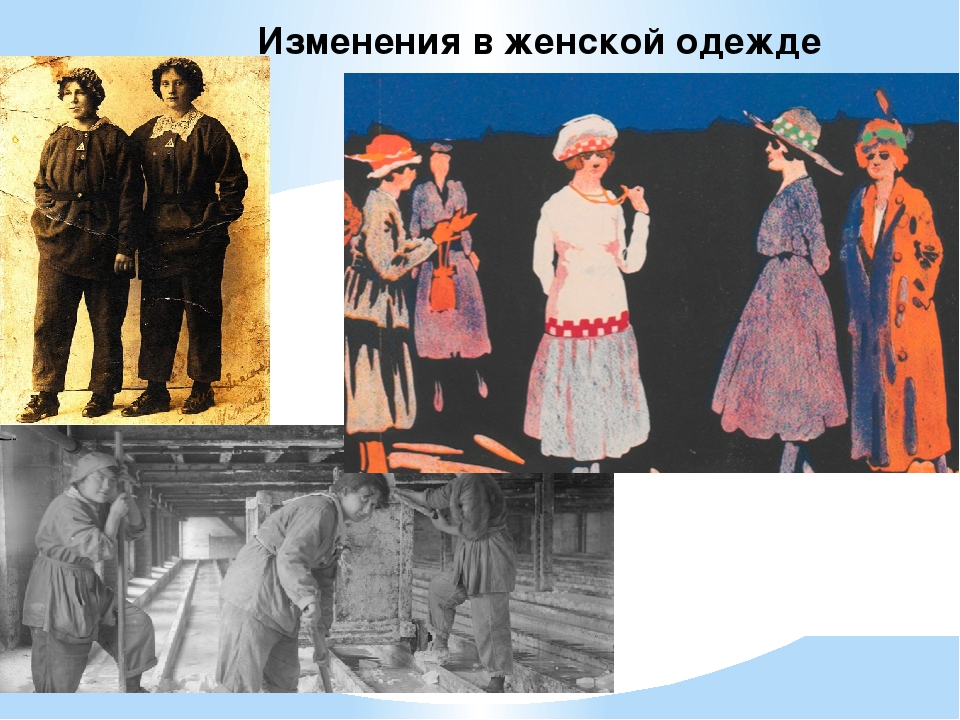 Изменения в женской одежде