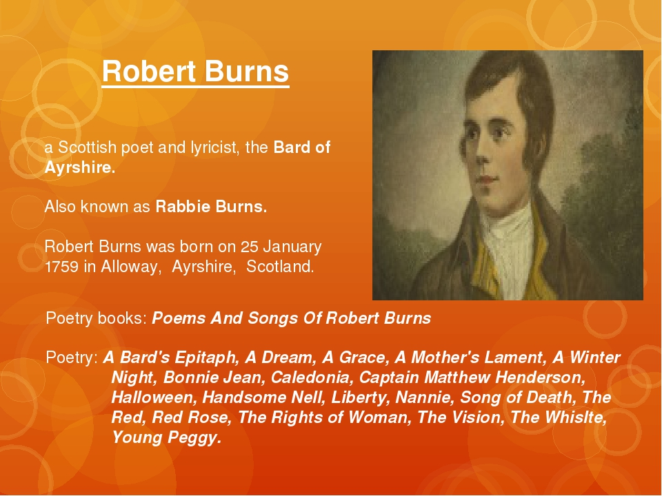 Robert Burns a Scottish poet and lyricist, the Bard of Ayrshire. Also known a...