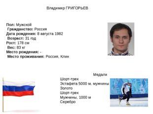 Пол:Мужской Гражданство:Россия Дата рождения:8 августа 1982 Возраст:31