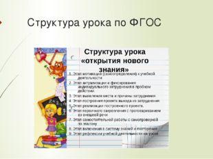 Структура урока по ФГОС