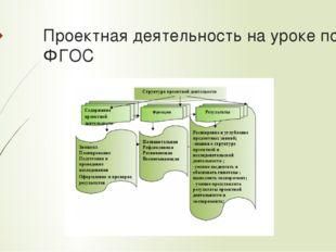 Проектная деятельность на уроке по ФГОС