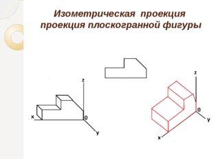 Изометрическая проекция проекция плоскогранной фигуры