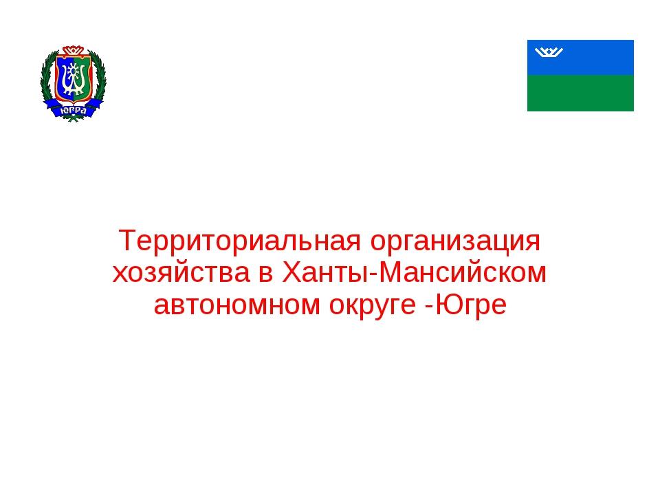 Территориальная организация хозяйства в Ханты-Мансийском автономном округе -Ю...