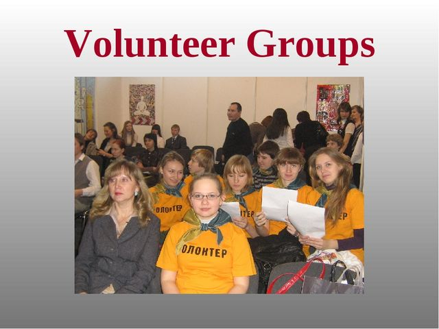 Volunteer Groups