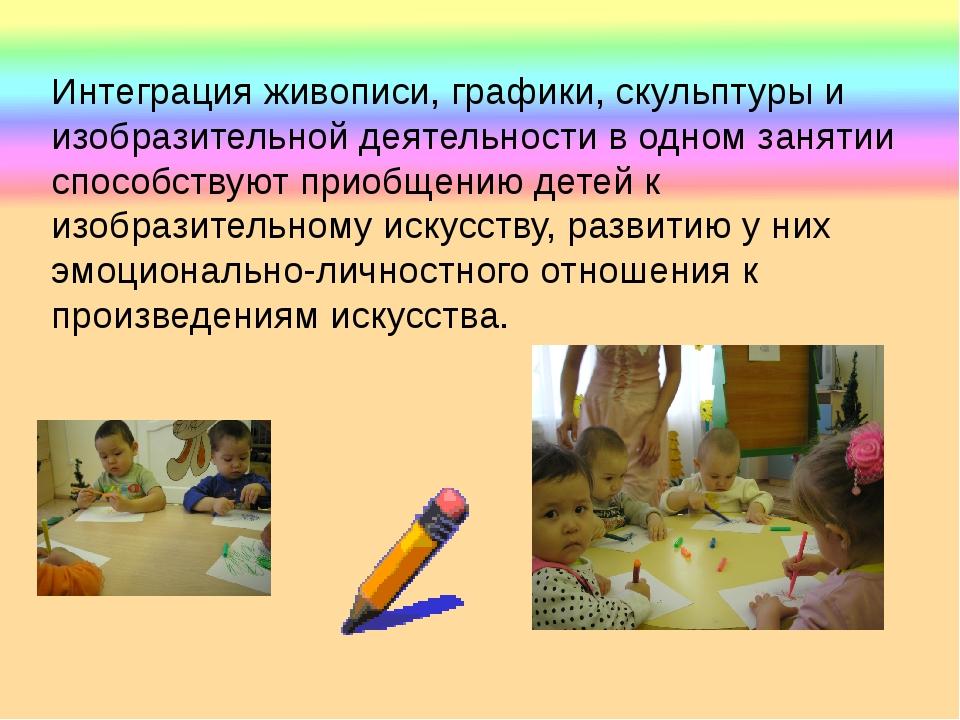 Интеграция живописи, графики, скульптуры и изобразительной деятельности в од...