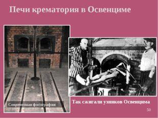 Печи крематория в Освенциме Современная фотография Так сжигали узников Освенц