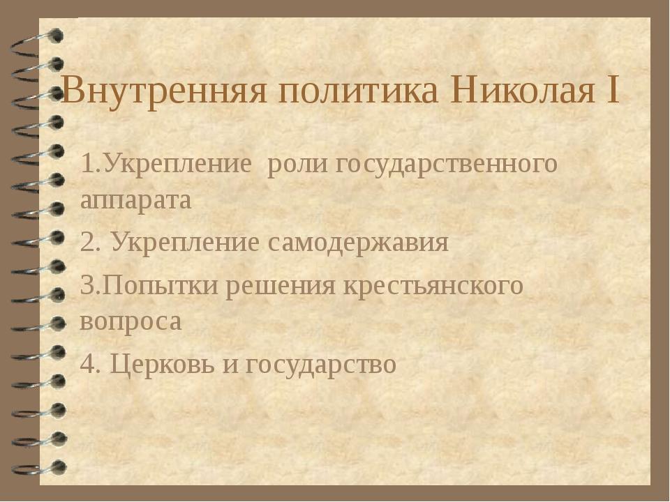 Презентация внешняя и внутренняя политика николая 1