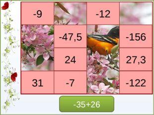 Игра - молчанка -6*8=48 6*(-4)=-24 9*(-3)=-27 -5*(9)=-45 -7*(8)=56 -4*(-9)=-3