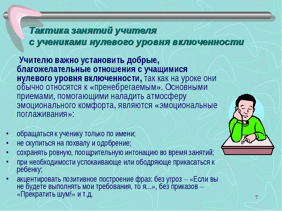 * Учителю важно установить добрые, благожелательные отношения с учащимися нул...