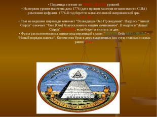 •Пирамида состоит из ТРИНАДЦАТИ уровней. •На первом уровне нанесена дата 17