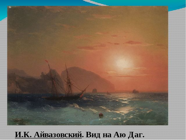 И.К. Айвазовский. Вид на Аю Даг.