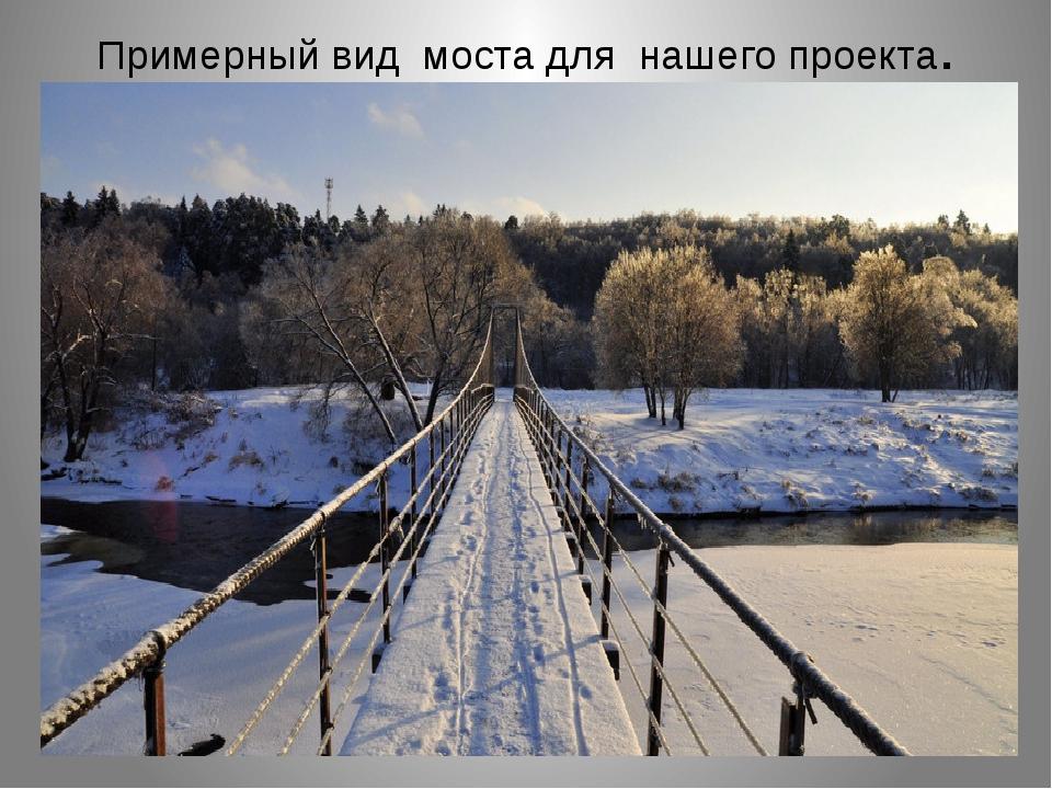 Примерный вид моста для нашего проекта.