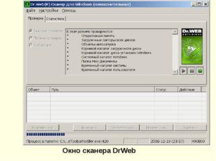 Окно сканера DrWeb