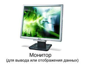 Монитор (для вывода или отображения данных)