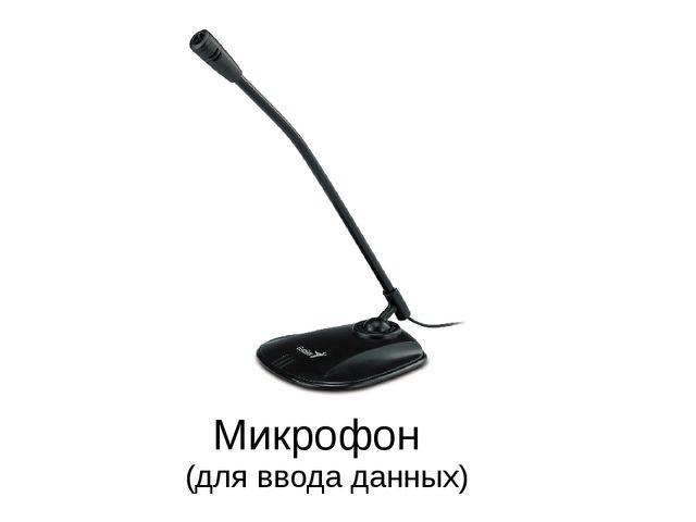 Микрофон (для ввода данных)