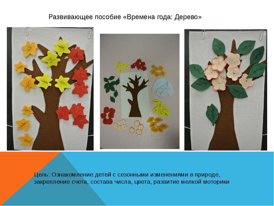 Развивающее пособие «Времена года: Дерево» Цель: Ознакомление детей с сезонн...