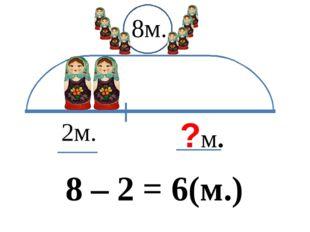 2м. ?м. 8м. 8 – 2 = 6(м.)