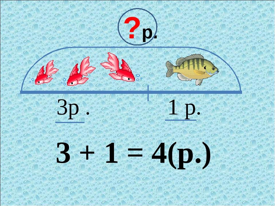 ?р. 3р . 1 р. 3 + 1 = 4(р.)