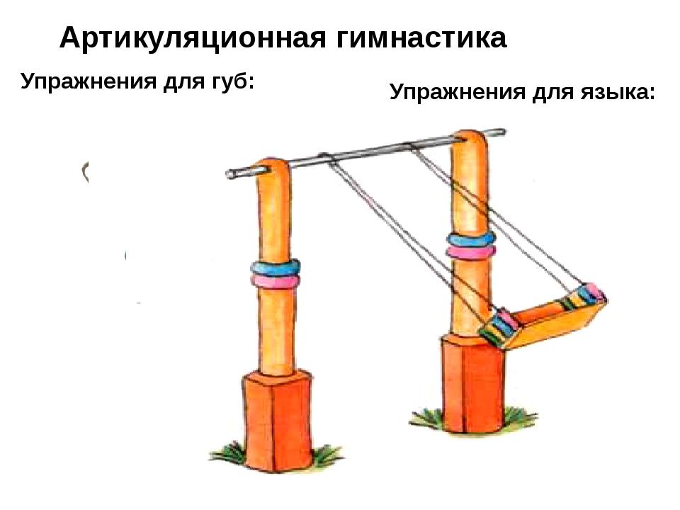 Артикуляционная гимнастика Упражнения для губ: Упражнения для языка: