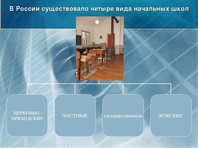 В России существовало четыре вида начальных школ