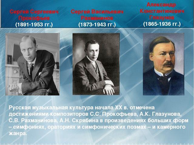 Сергей Васильевич Рахманинов (1873-1943 гг.) Александр Константинович Глазуно...