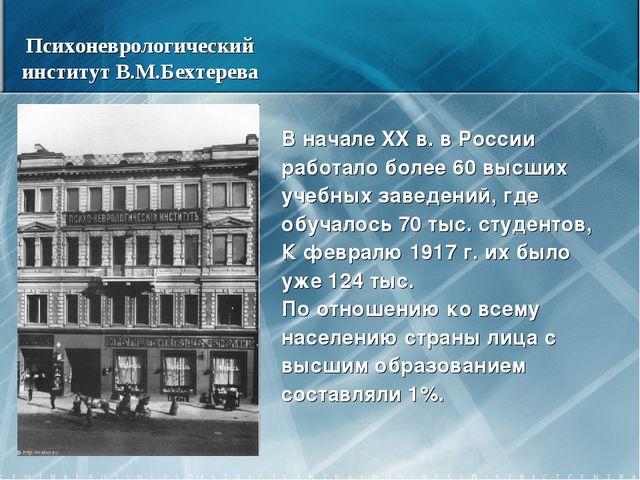 В начале XX в. в России работало более 60 высших учебных заведений, где обуча...