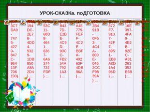 УРОК-СКАЗКа. поДГОТОВКА