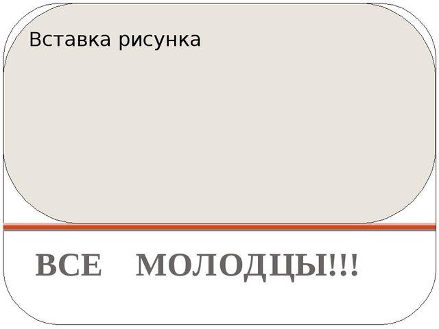 ВСЕ МОЛОДЦЫ!!!
