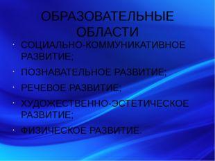 ОБРАЗОВАТЕЛЬНЫЕ ОБЛАСТИ СОЦИАЛЬНО-КОММУНИКАТИВНОЕ РАЗВИТИЕ; ПОЗНАВАТЕЛЬНОЕ РА