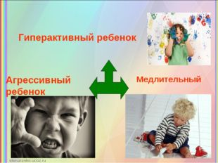 Гиперактивный ребенок Агрессивный ребенок Медлительный