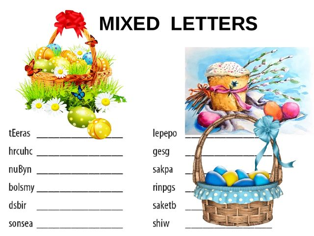MIXED LETTERS
