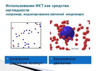 Использование ИКТ как средства наглядности например, моделирование явлений ми