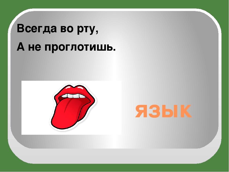 язык Всегда во рту, А не проглотишь.