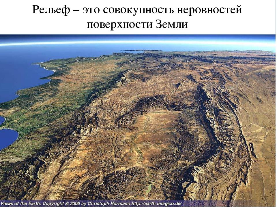 Рельеф – это совокупность неровностей поверхности Земли