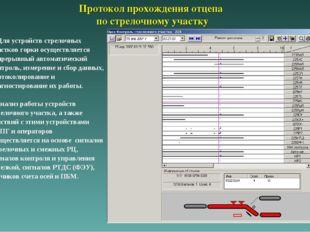 Протокол прохождения отцепа по стрелочному участку Для устройств стрелочных у