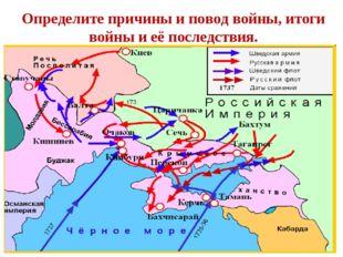 Определите причины и повод войны, итоги войны и её последствия.
