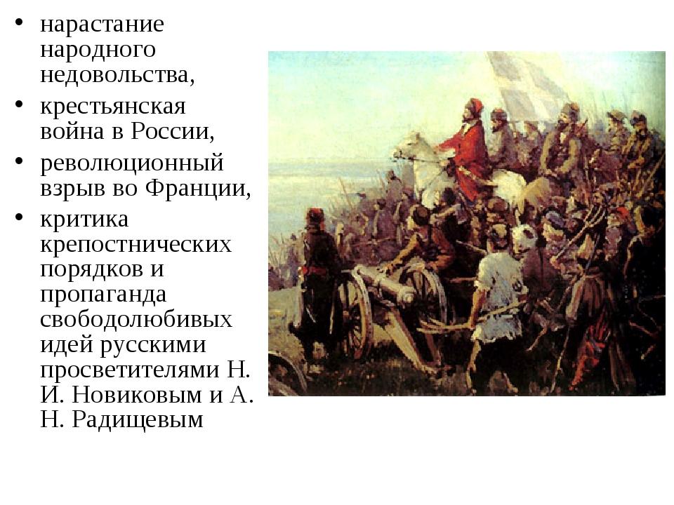 нарастание народного недовольства, крестьянская война в России, революционный...